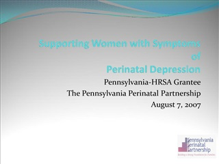 supporting women with symptoms  of  perinatal depression