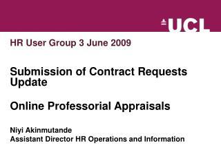 HR User Group 3 June 2009