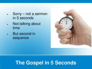 The Gospel in 5 Seconds