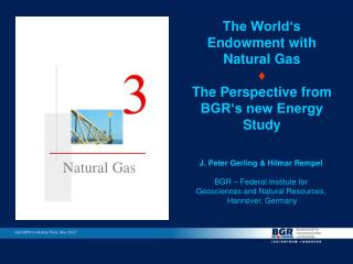 The World s Endowment with Natural Gas  The Perspective from BGR s new Energy Study