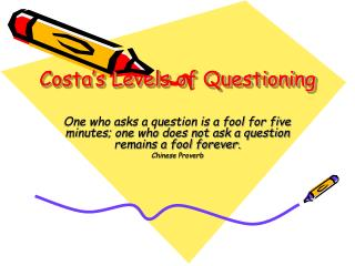 Costa s Levels of Questioning