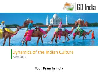 Dynamics of the Indian Culture  May 2011
