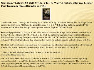 "new book, ""i always sit with my back to the wall"" & website"