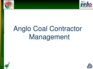 Anglo Coal Contractor Management