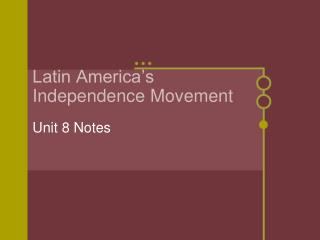 Latin America s Independence Movement