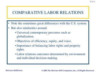 COMPARATIVE LABOR RELATIONS