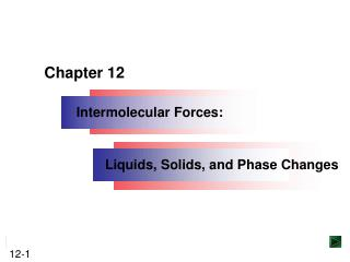 Intermolecular Forces: