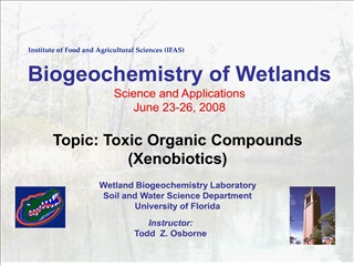 the fate of xenobiotics in wetlands