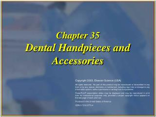 chapter 35 dental handpieces and accessories