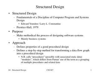 Structured Design