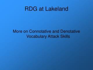 RDG at Lakeland