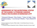 ASSESSMENT OF THE NUTRITIONAL STATUS OF THE ELDERLY ATTENDING VARIOUS PUBLIC POLYCLINICS IN BENGHAZI CITY  Mohamed H Buz