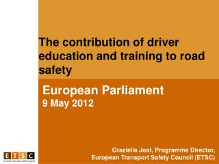 European Parliament 9 May 2012