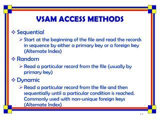 vsam access methods