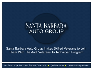 Audi Veterans Technician Program