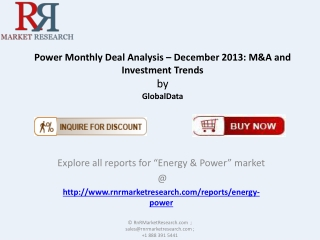 Power Monthly Deal Market Forecasts and Investment Trends