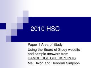 2010 HSC