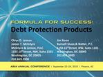Debt Protection Products