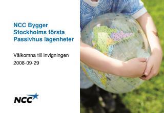 NCC Bygger Stockholms f rsta Passivhus l genheter