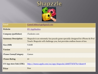 shapzzle - shape matching puzzle game