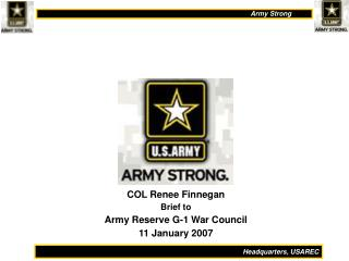 col renee finnegan brief to army reserve g-1 war council 11 january 2007