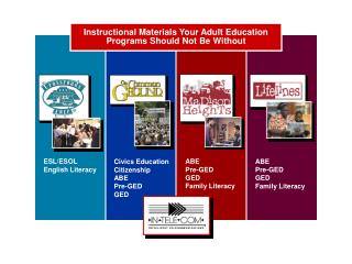 Instructional Materials Your Adult Education Programs Should Not Be Without