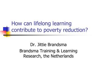 How can lifelong learning contribute to poverty reduction