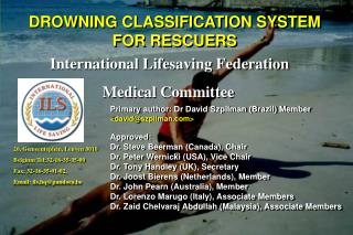 DROWNING CLASSIFICATION SYSTEM FOR RESCUERS