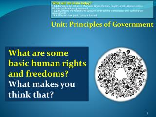What are some basic human rights and freedoms  What makes you think that