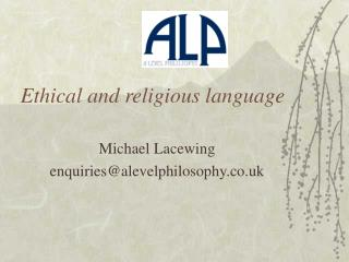 Ethical and religious language