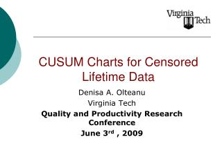 CUSUM Charts for Censored Lifetime Data