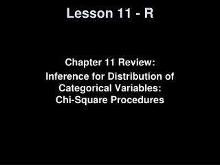 Lesson 11 - R