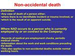non-accidental death