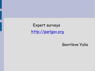 Expert surveys parlgov  Gavrilova Yulia
