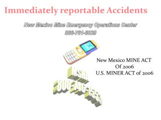 immediately reportable accidents