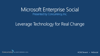 MS Enterprise Social: SharePoint, Office 365, Lync,