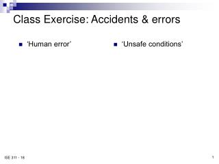 class exercise: accidents  errors