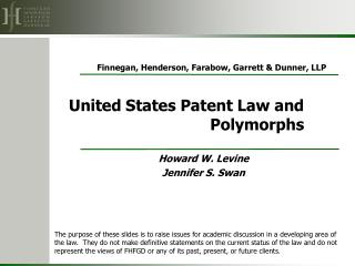 United States Patent Law and Polymorphs