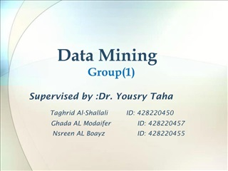 Data Mining Group1