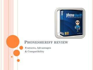 PhoneSheriff Cellular Phone Monitoring Program