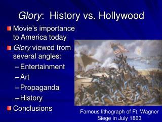 glory:  history vs. hollywood