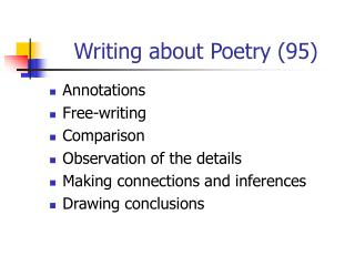 Writing about Poetry 95