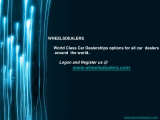 Wheelsdealers - Buy and sell kenyan used cars