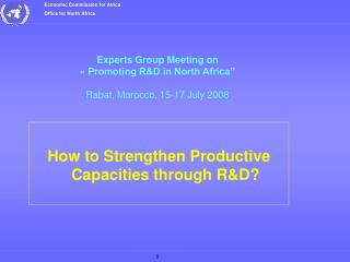 How to Strengthen Productive Capacities through RD