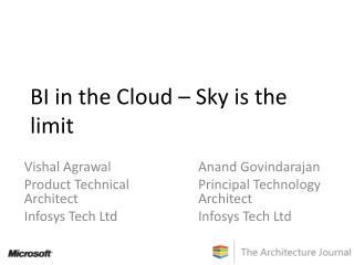 BI in the Cloud   Sky is the limit