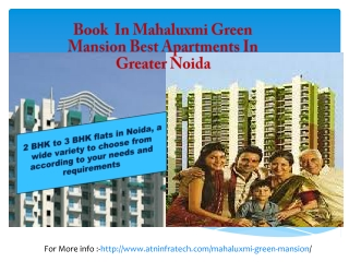 Book 2/3 BHK Apartments in Mahaluxmi Green Mansion