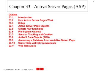 Chapter 33 - Active Server Pages ASP
