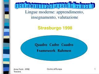 Lingue moderne: apprendimento, insegnamento, valutazione