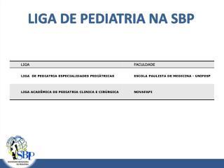 LIGA DE PEDIATRIA NA SBP