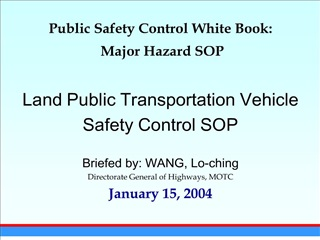 public safety control white book:  major hazard sop   land public transportation vehicle  safety control sop   briefed b